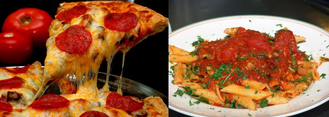 acidic foods pizza pasta